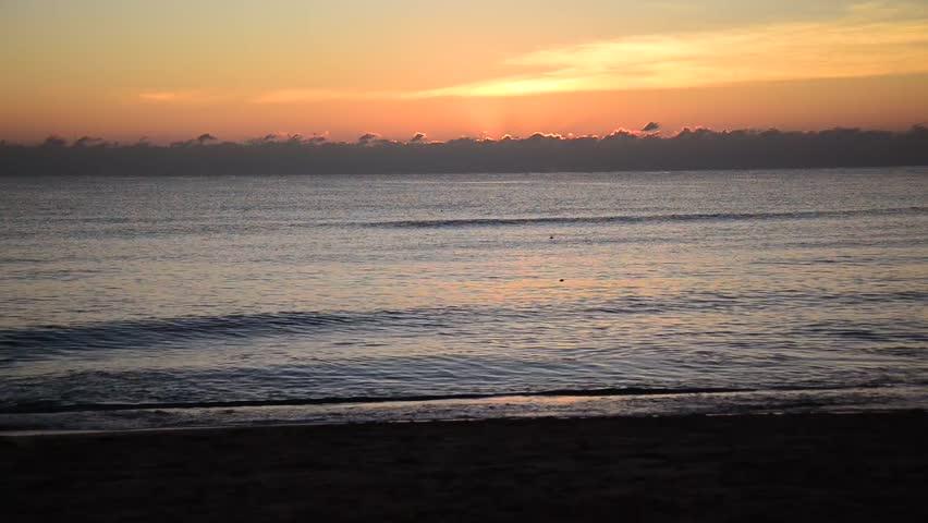 Beautiful Time Lapse Sunrise at the beach