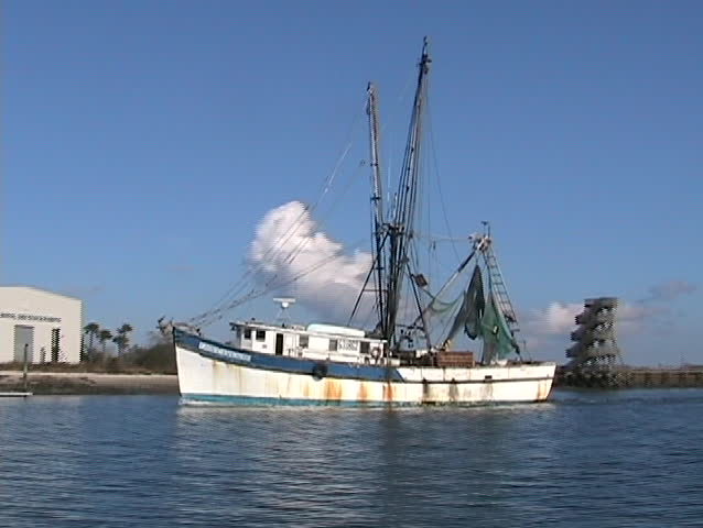 Shrimping boat in Beaufort South Carolina