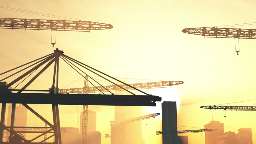 Construction zone area stock footage video 4088542 for Definition construction