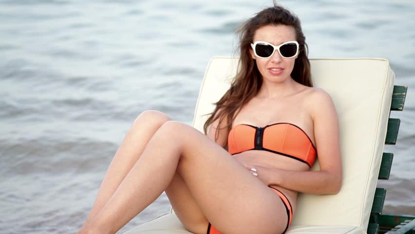 Men Sunbathing In Womens Bikini