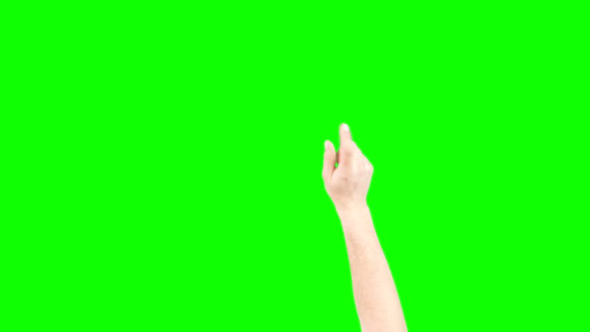 Tapping And Zooming In Hand On Green Screen Chroma Key (Good For Web Designers, Web Developers And Youtubers)
