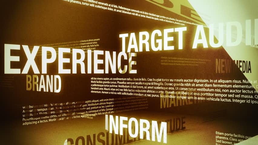 Advertising Related Words Background Loop