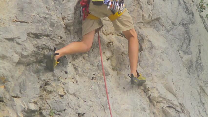Monterrey, Nuevo Leon. Mexico - CIRCA 2015: Rock climbing