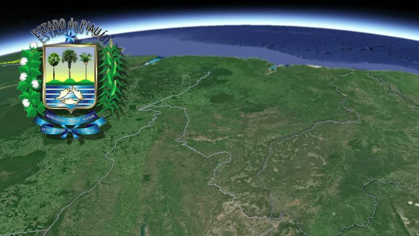 Piaui white Coat of arms animation map States of Brazil Piaui? white Coat of arms animation map