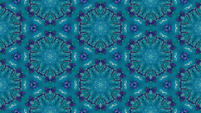 Multicolor decorative video - kaleidoscope - HD stock footage clip