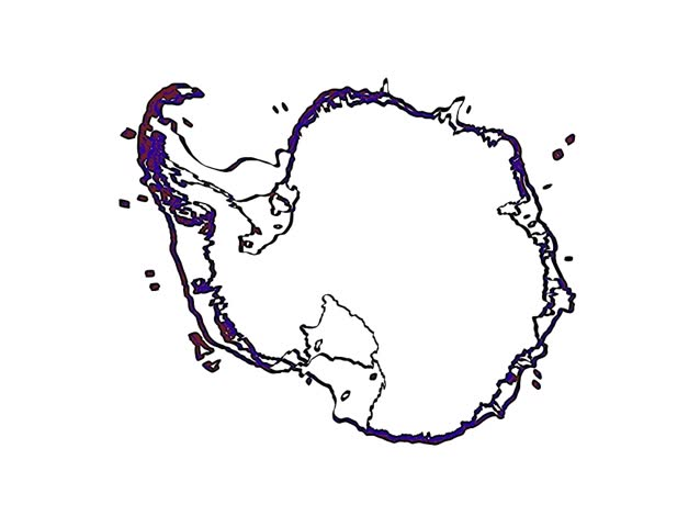 antarctic continent - draw animation