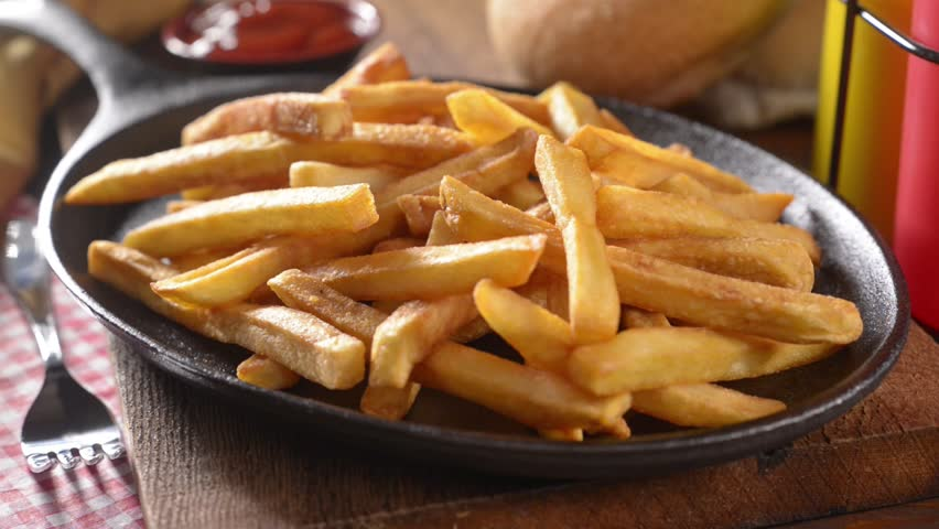 French Fries - HD stock footage clip