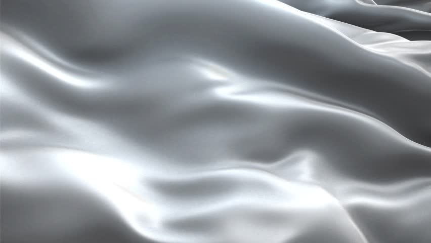 White silk fabric blowing in the wind, abstract background, waving in the wind with highly detailed fabric texture. - HD stock video clip