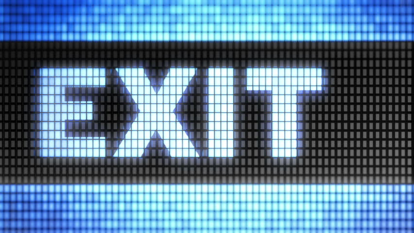 """""""Exit"""" on screen. Looping."""