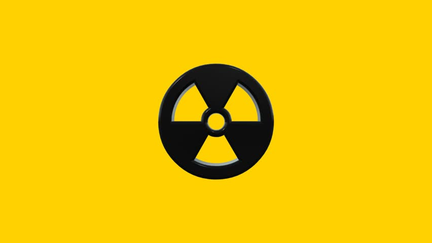 spinning nuclear radioactive radiation symbol logo stock
