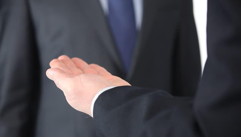 Businessman counting money - closeup shot