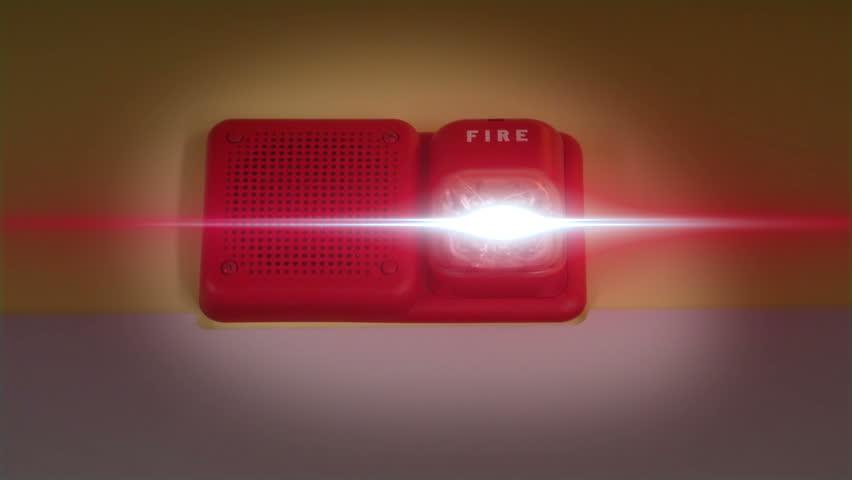 Fire Alarm Ringing and Flashing