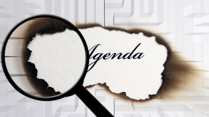 Header of Agenda