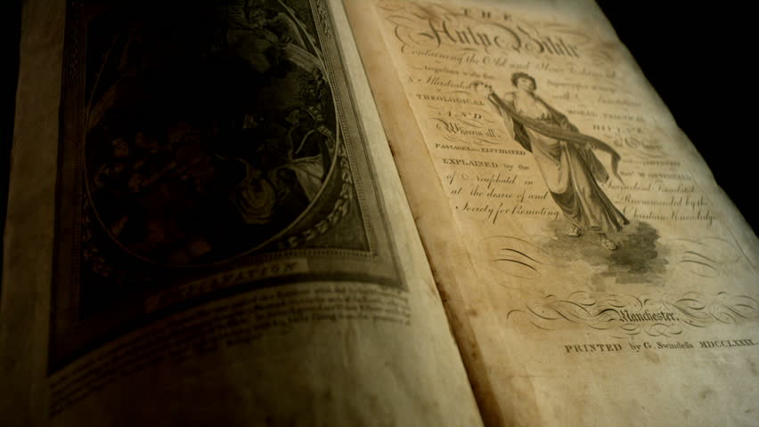 Old English Scripture in an Old English Bible