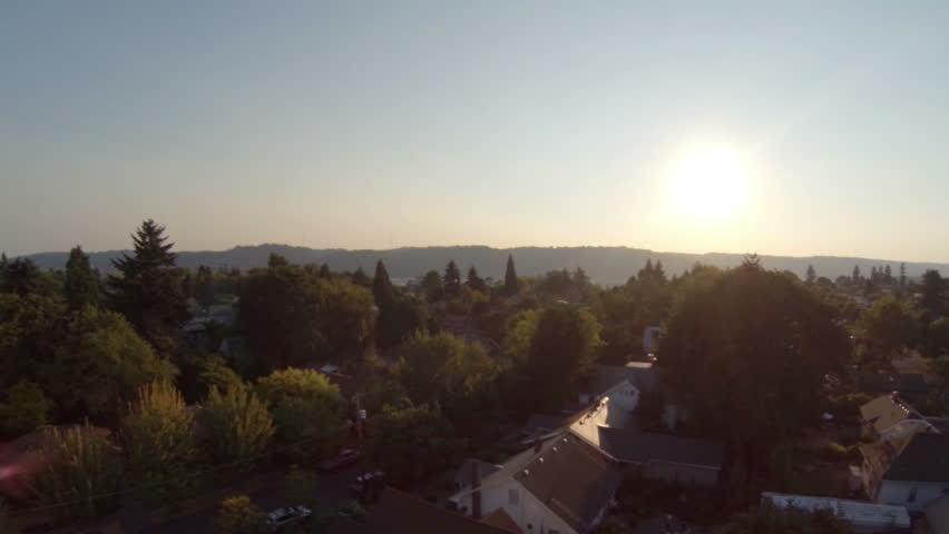 Aerial video in Portland, Oregon.