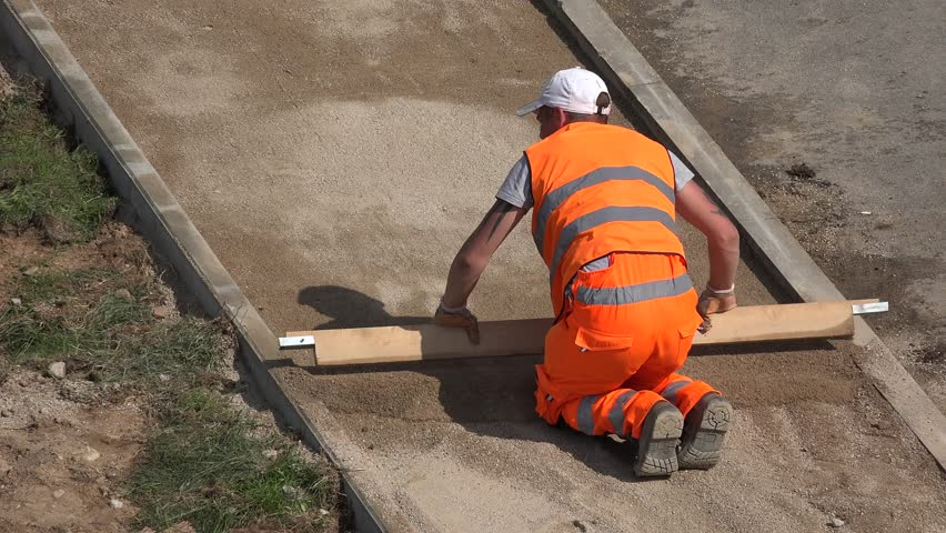how to prepare ground for cement kerbing