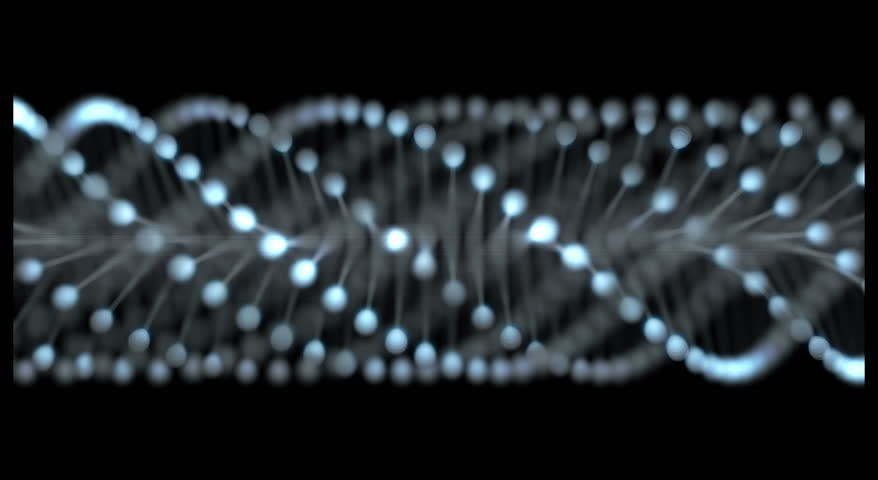 Simple three dimensional animation of a DNA strand revolving