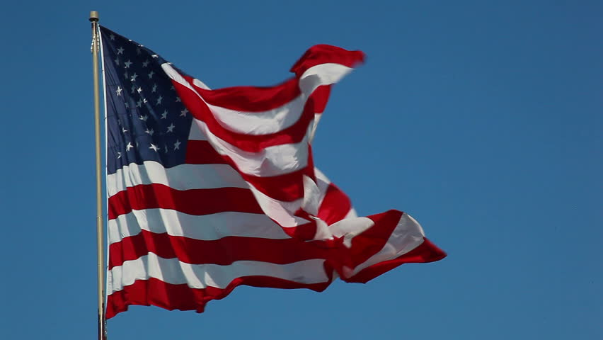 HD of American flag - HD stock footage clip