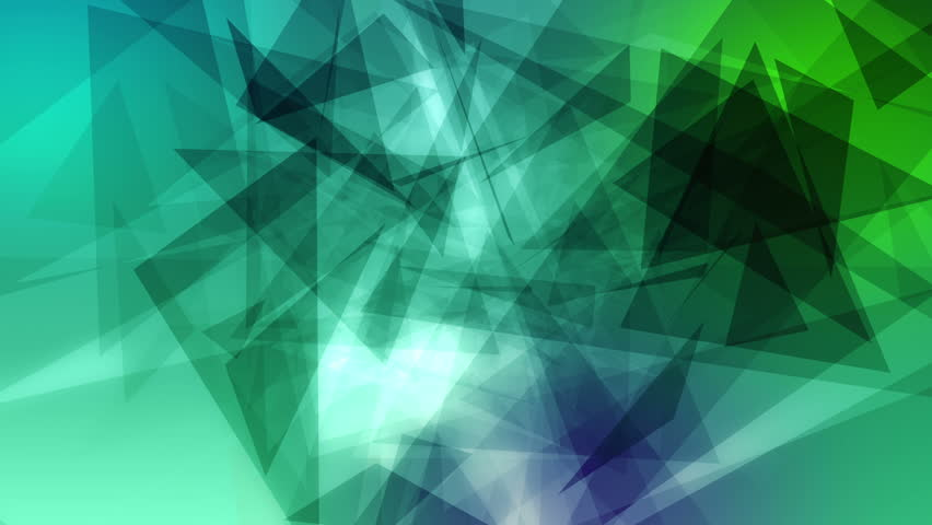 Looping colorful triangles background