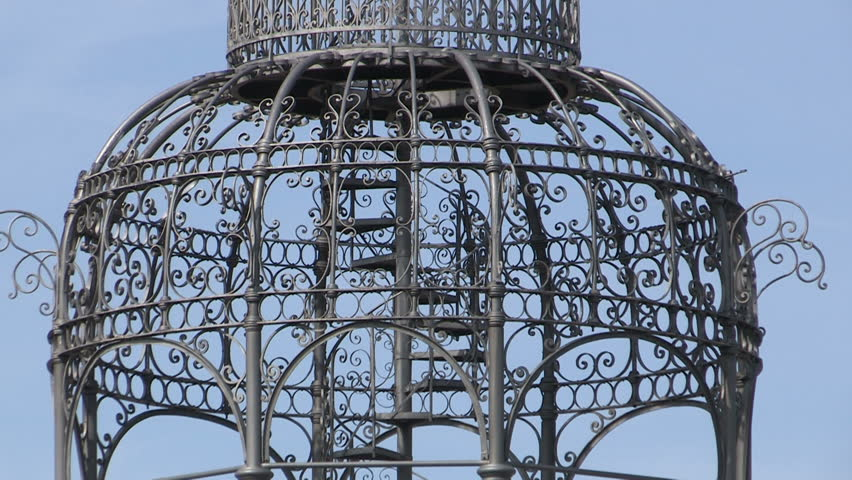 An iron gazebo in Art Noveau style