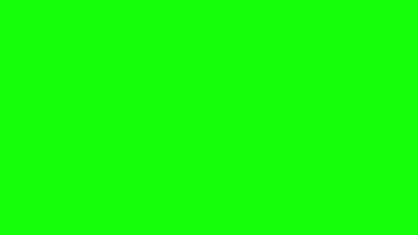 Computer generated animation of a racing checkered flag waving over green screen. High definition 1080p. - HD stock video clip