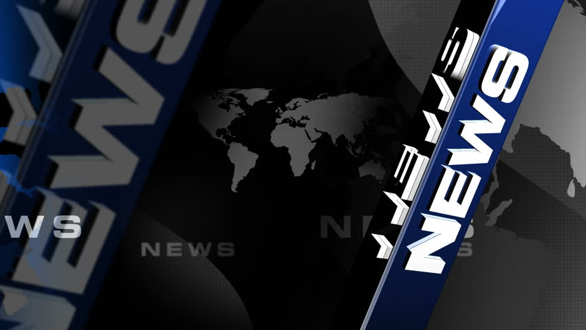 News Vertical BLUE broadcast background - HD stock video clip