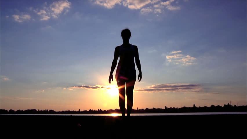 Yoga at sunset 1