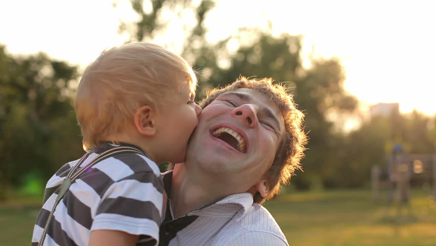 happy young father and son have fun and enjoy time  - HD stock video clip