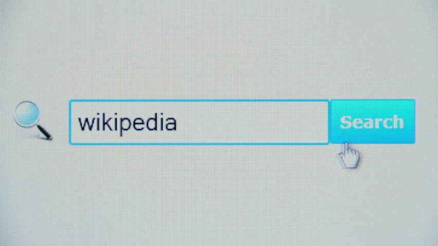 Header of Wikipedia