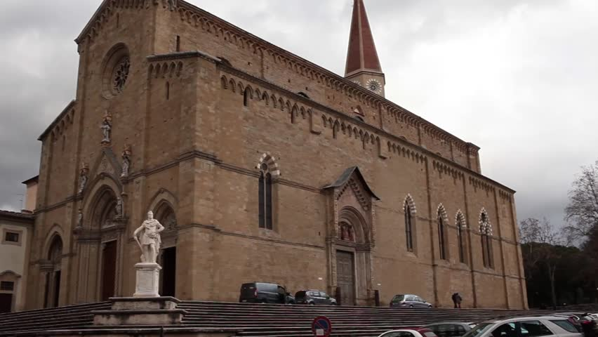Video clip of the Arezzo Cathedral exterior, Tuscany, Italy.