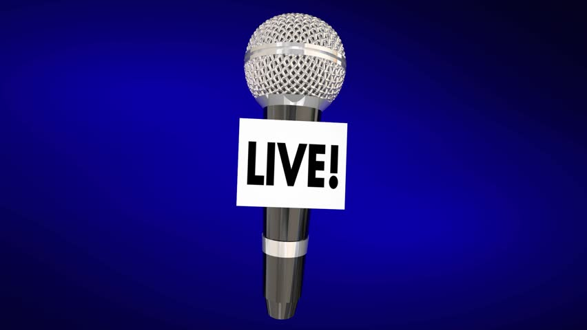 Live Report Microphone News Information On the Scene Update