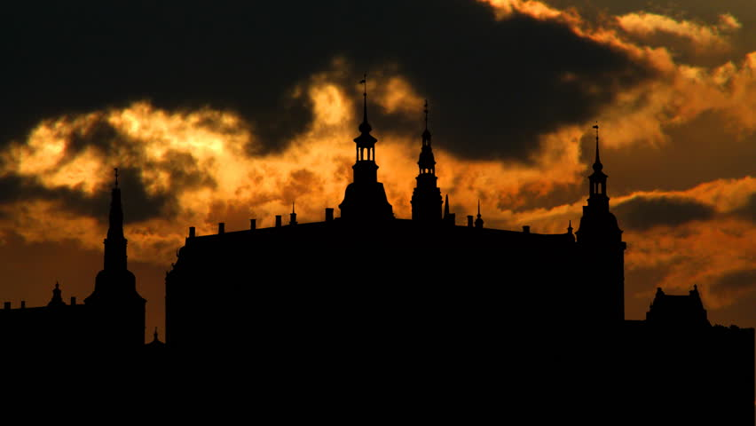 Frederiksborg castle is a castle in Hillerd, Denmark. It was built as a royal residence for King Christian IV, and is now known as The Museum of National History - HD stock video clip
