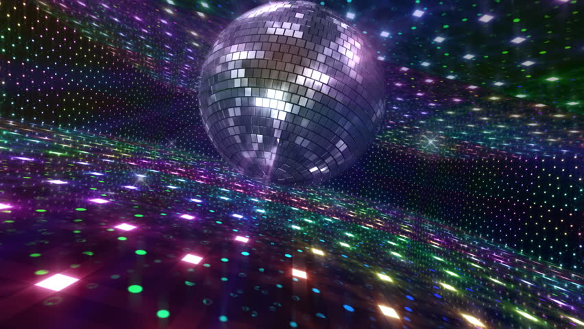 dancing multicolored disco lights disc jockey stock