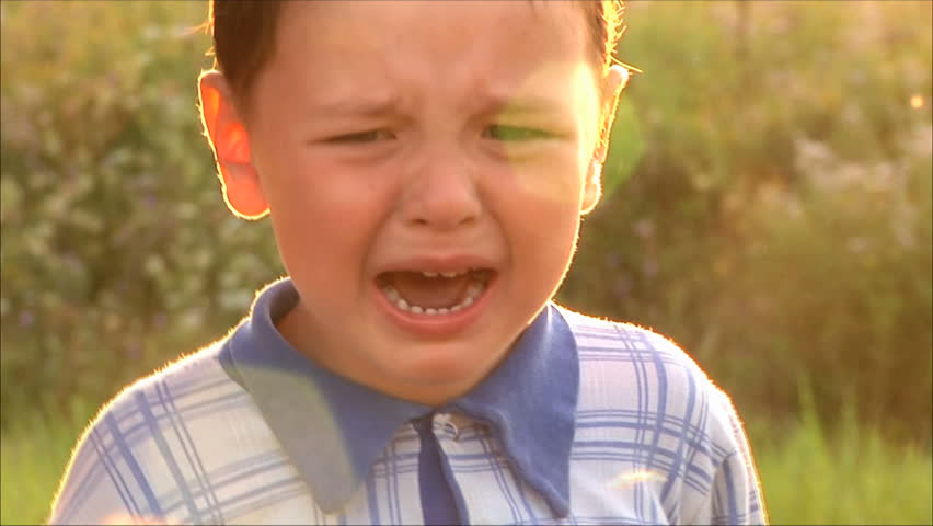 little boy crying - HD stock footage clip