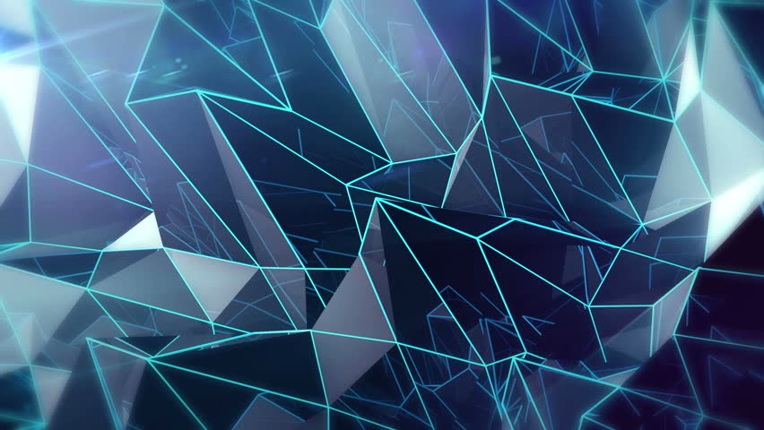 Abstract Triangle - Full Background 2 and Lens Flares