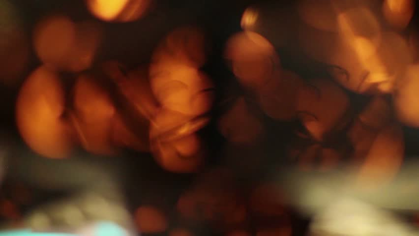 Lamp and glasses  in a bar - HD stock footage clip
