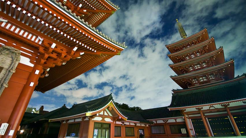 Senso-ji Temple in Asakusa, Taito, Tokyo