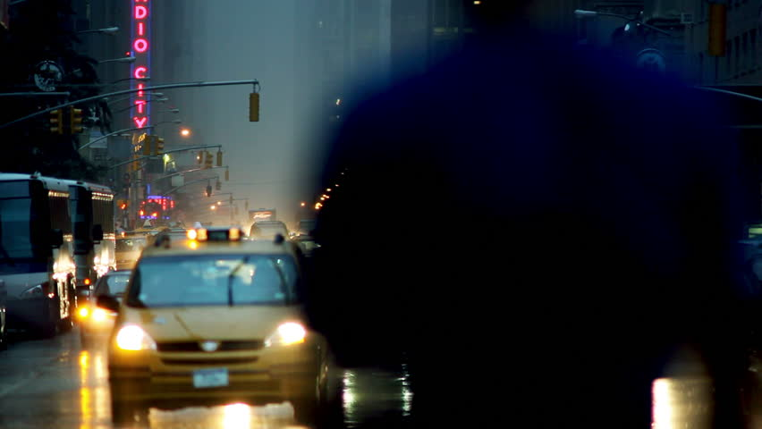 Wet traffic in New York City