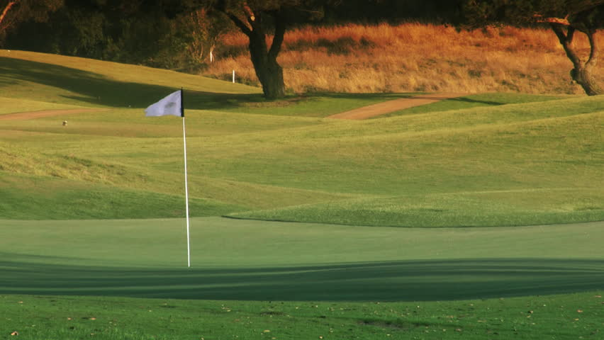 Golf Course Hole, Green and Flag