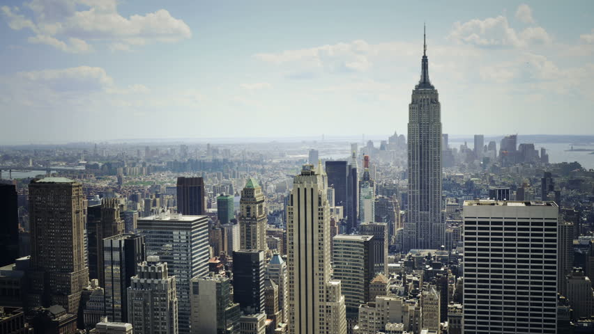 Empire state Building and downtown NYC timelapse