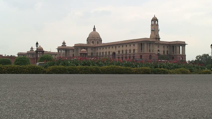 Indian Parliament Building, New, Delhi - HD stock video clip