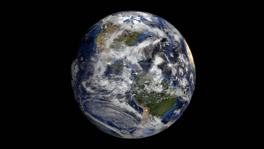 Rotating earth is covered by American dollars sphere animation