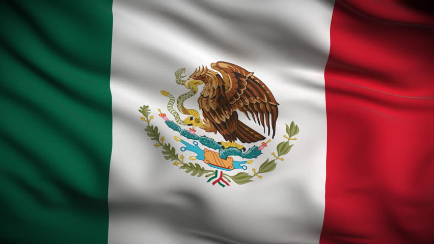 Mexican Flag HD. Looped. Stock Footage Video 1821584 ...