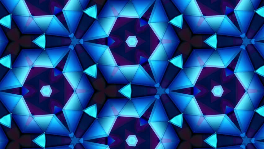 Color Kaleidoscope - Blue - Best Move and Rotate - 1