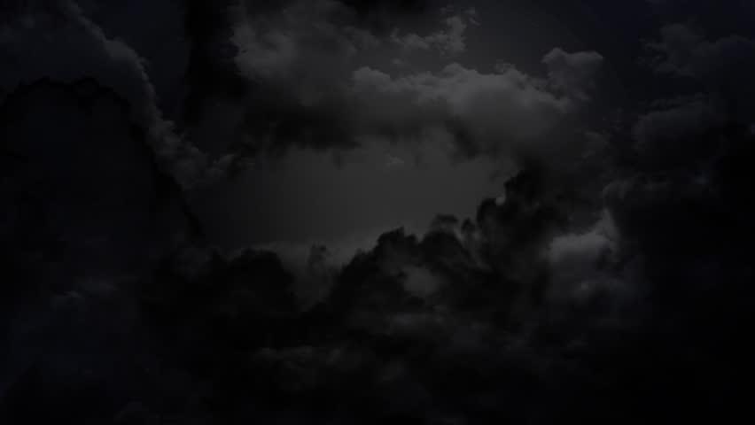 the cloudy dark sky and thunder animation
