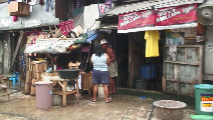 MANILA,  PHILIPPINES - DECEMBER 25, 2010: Scenery From Vehicle Manila, Philippines
