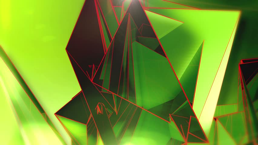 Abstract Background - Triangle - Green - 1 B