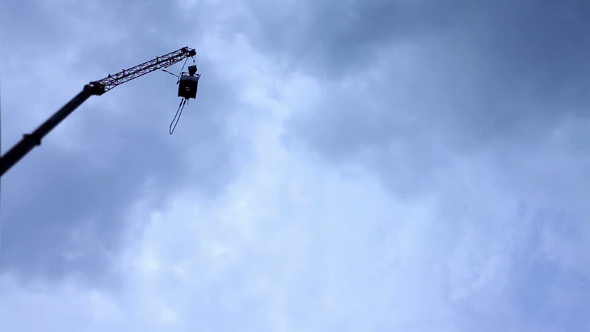bungee jumping from very high - HD stock footage clip