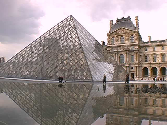 Paris, Musee du Louvre - SD stock footage clip
