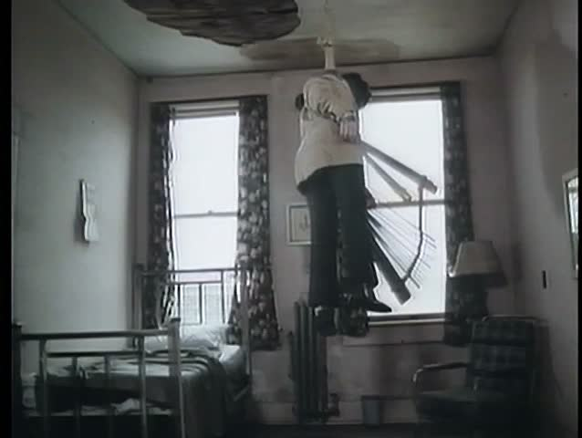 Dead Man Hanging From Ceiling Stock Footage Video 2111396